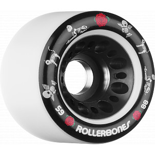 Rollerbones Pet Day of the Dead Speed wheel 59mm x 88a White 4 Pk